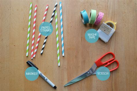 How To Make A Paper Straw - diy washi paper straw flags blush and jelly
