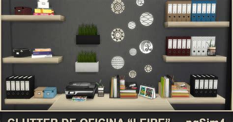 clutter 4 custom content sims clutter de oficina quot leire quot sims 4 custom content