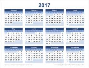 Whole Year Calendar 2017 2017 Calendar Templates And Images