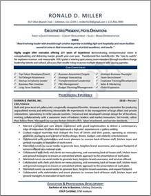 Executive Resume Example Executive Resume Samples Professional Resume Samples