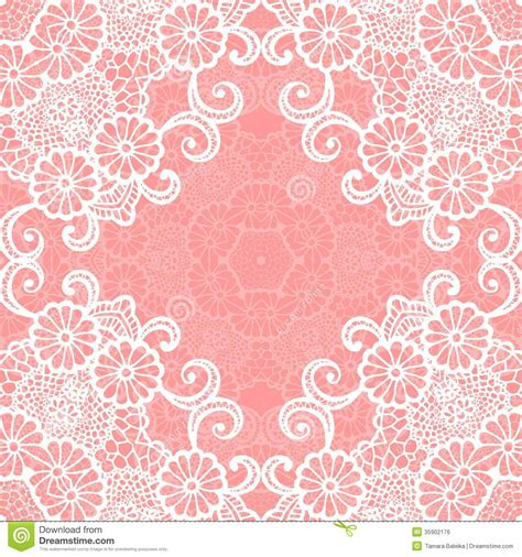 lace templates for card vintage lace invitation card stock vector illustration