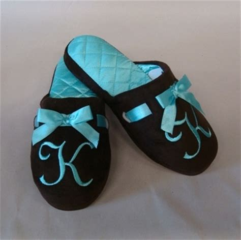 Monogrammed Bedroom Slipper With Ribbon Design Monogram Pintere