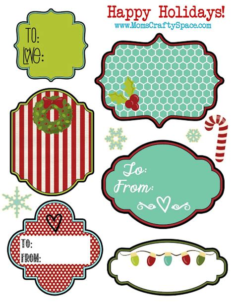 Free Printable Christmas Gift Tags What Mommy Does Gift Label Template