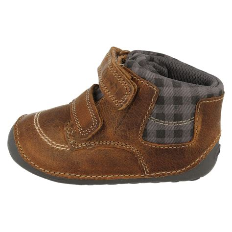 Prewalker Shoes Boots baby infant boys clarks leather cruiser pre walker ankle boots tiny