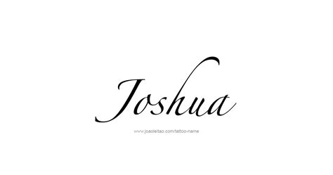 joshua name tattoo designs joshua prophet name designs tattoos with names