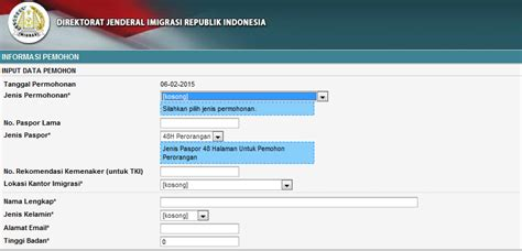 pembuatan paspor online imigrasi tangerang tata cara pembuatan passport online imigrasi batam