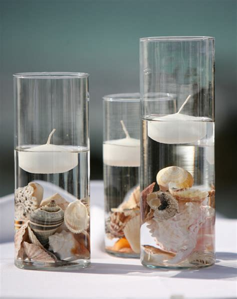 Nautical Home Decor Wholesale by Cylinder Vases Floating Candles And Seashells For An