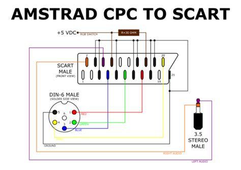 scart lead wiring diagram efcaviation