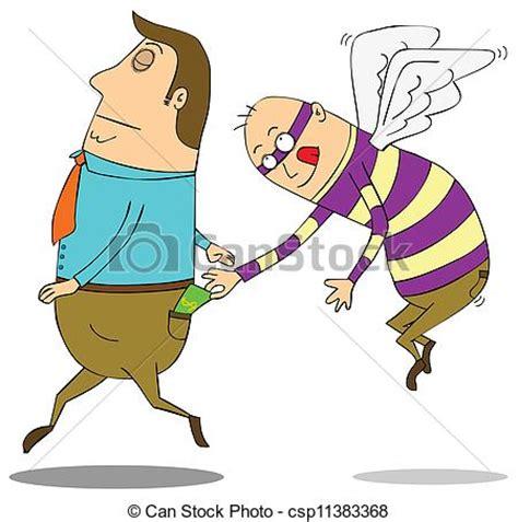 lart de voler clip art vecteur de voler pickpocket csp11383368 recherchez des images graphiques vecteur eps