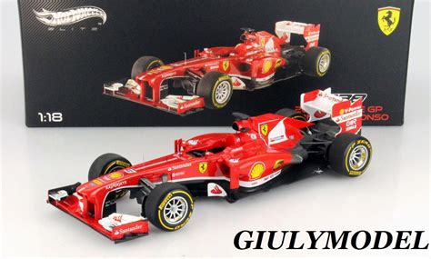 Mattel Wheels Elite 1 18 F138 2013 Gp Fernando Alonso Diec cars wheels elite 1 18 f 138 fernando alonso gp china 2013 mattel bct82