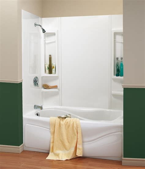Combined Bath And Shower Units one piece shower units with seat shelves and tub ideas