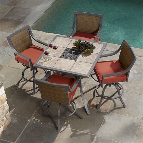 Ty Pennington Palmetto 5 Piece Patio High Dining Set High Patio Dining Set
