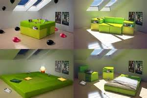 All In One Bedroom Furniture Transforming Furniture Sofa Bed Place And Armchairs All In One Modern Interior And