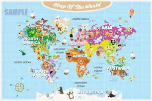 Map Of The World For Kids by World Maps With Countries For Kids Images