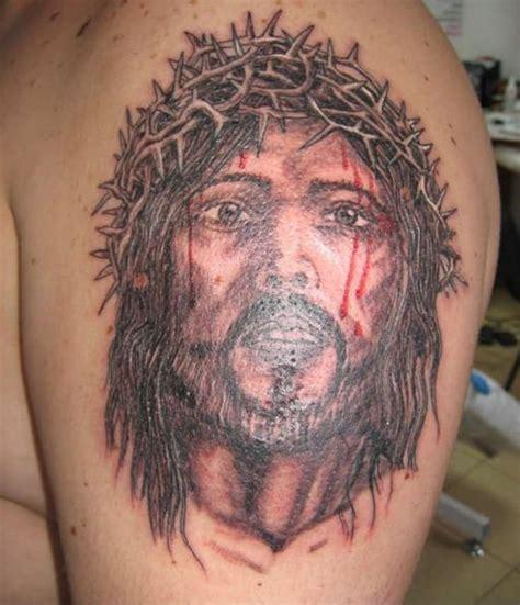 tattoo jesus video somber jesus tattoo on shoulder