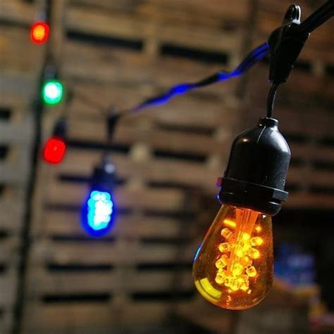 Commercial Edison Drop String Lights 48 Foot Black Wire Commercial Edison String Lights