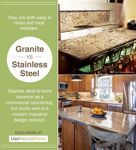 granite vs stainless steel granite vs stainless steel countertops what is the