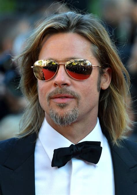 brad pitt sunglasses id celebrity sunglasses brad pitt agrees that you cant go wrong with aviators