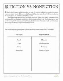 fiction vs nonfiction worksheet education com