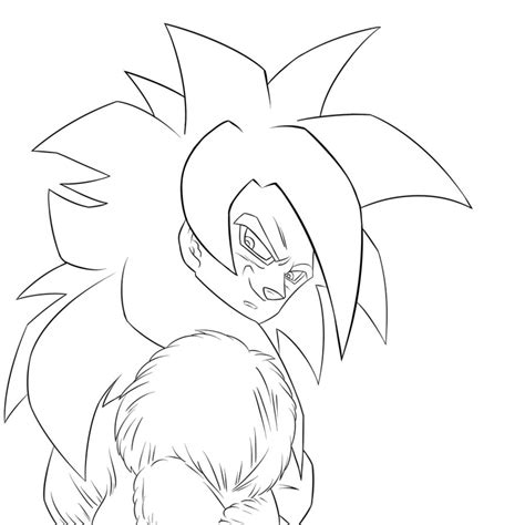 mobile chibi goku ssj4 coloring pages coloring pages