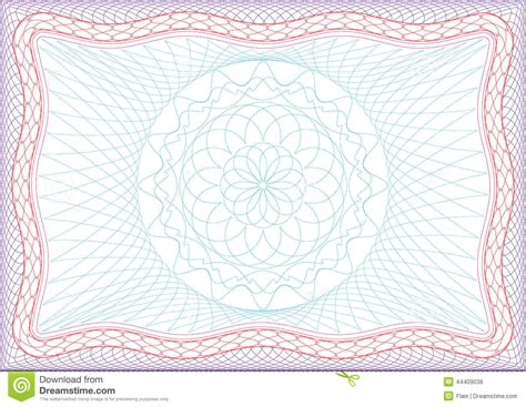 passport pattern vector frame for diploma certificate or passport stock vector