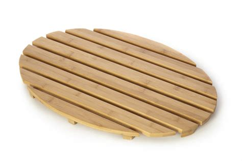 Wooden Slatted Bath Mat by Clearance Bamboo Wood Wooden Oval Duckboard Bathroom