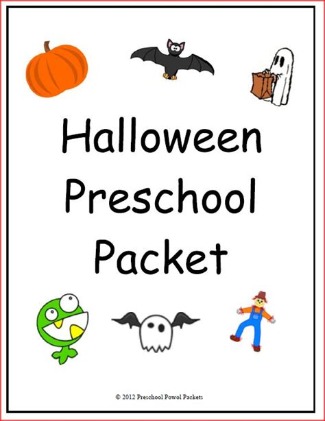 printable halloween games for preschoolers halloween preschool packet teachers notebook preschool