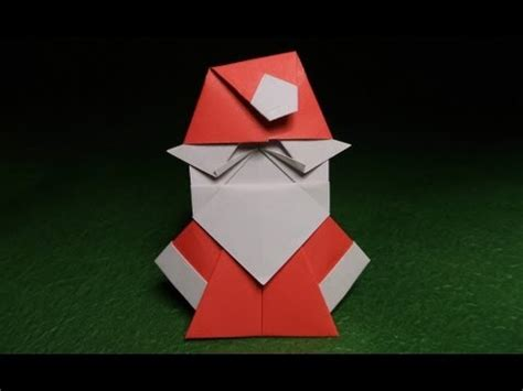 How To Make Santa Claus Out Of Paper - origami santa claus tutorial 摺紙聖誕老人的視頻教程