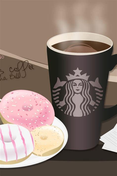 starbucks coffee wallpaper iphone 640x960 starbucks coffee and donuts iphone 4 wallpaper