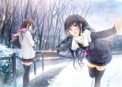 girl with brown hair in snow original girls black hair blue eyes brown hair long hair
