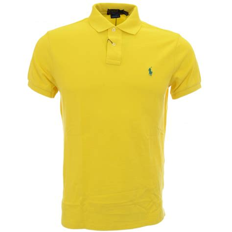 Polo Yellow polo ralph graphic yellow custom fit polo shirt