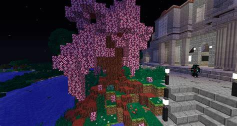 cherry tree minecraft cherry blossom tree with microblocks minecraft