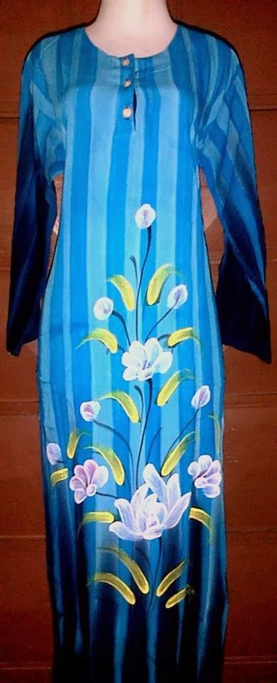 Dress Lukis jual batik pekalongan longdress lukis grosir batik