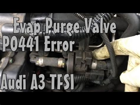 po455 hyundai audi a3 evap fuel purge valve p0441 error code replace
