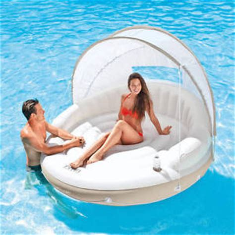 Floating L Shade intex floating shade canopy island float lounge