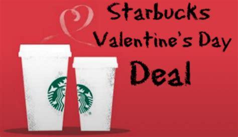 valentines starbucks starbucks s day deal