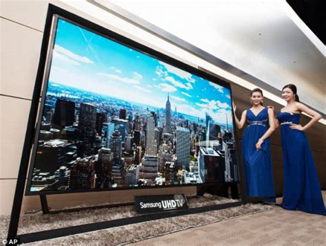 how many inches wide is a king size bed world s biggest television goes on sale as samsung launches 110in set daily mail online