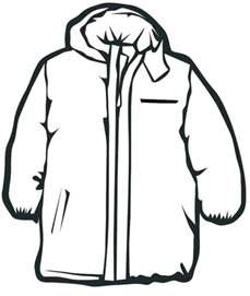 Winter Coat Coloring Page 18 best images about clothing coloring pages on
