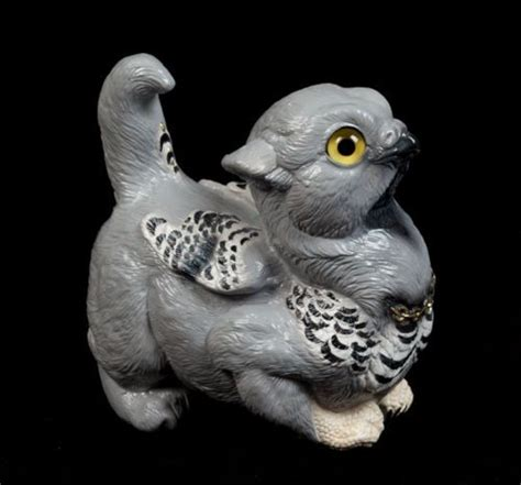 A Snowy Owl Papercraft Resting On My Laptop By - 34 best images about statuary gargoyles and griffins on