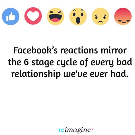 Relationship Memes Facebook - facebook s reactions are the 6 stages of a doomed