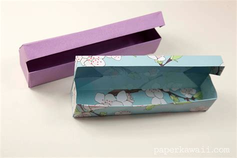 How To Make Pencil Box With Paper - origami pencil box tutorial 03