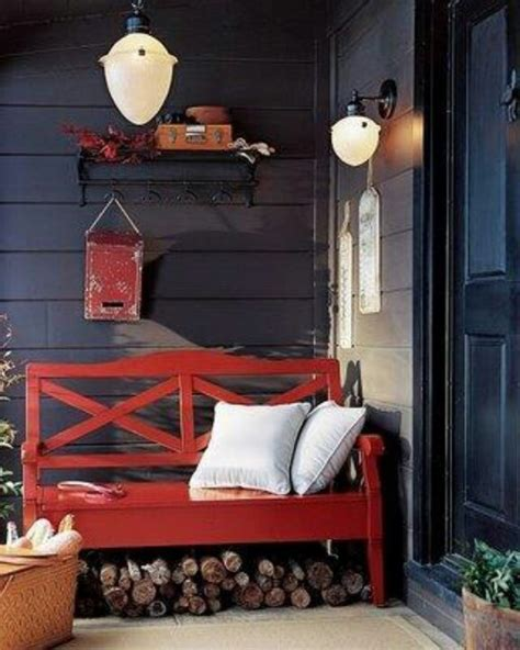 small bench for front porch small and cozy front porch area home yard pinterest