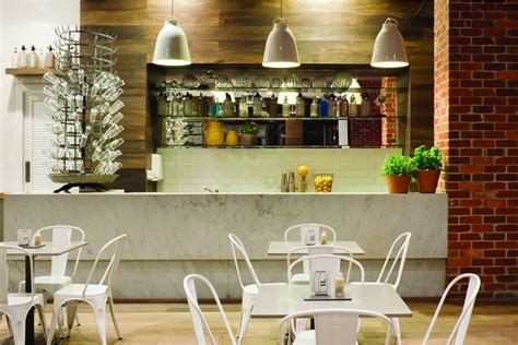 cafe kitchen decorating ideas indoor bar of clean and modern cafe with home style design
