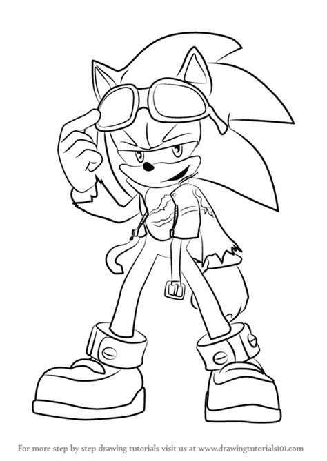 learn how to draw scourge the hedgehog from sonic the