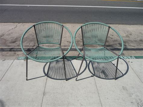 mid century modern patio furniture pair of hoop chairs blue hoop chairs outdoor patio furniture
