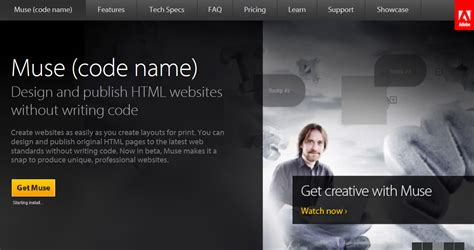 web layout muse sneak peak adobe muse for no coding web design