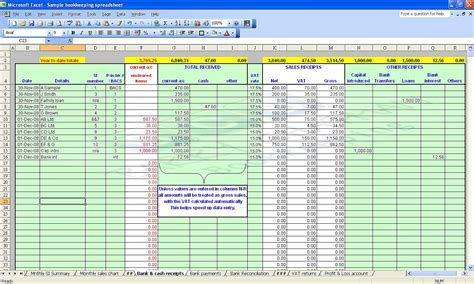 Bookkeeping Templates Excel by Accounting Spreadsheet Template Accounting Spreadsheet