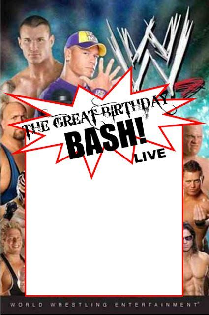 Printable Birthday Cards Wrestling | wwe party swimming pool parties and party invitation