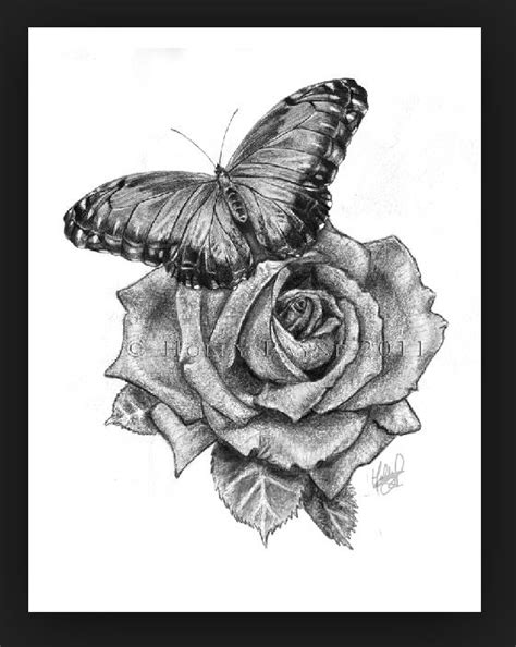 rose and butterfly tattoo designs and butterfly designs