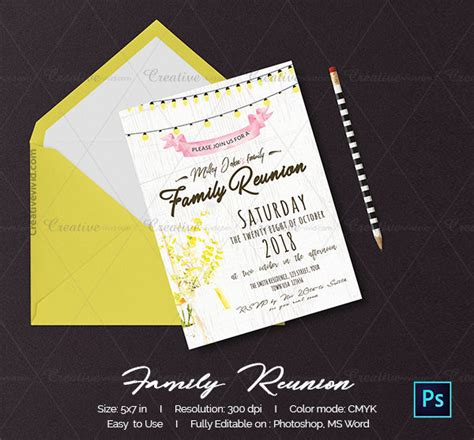 printable family reunion invitation cards 19 family reunion invitation templates free premium